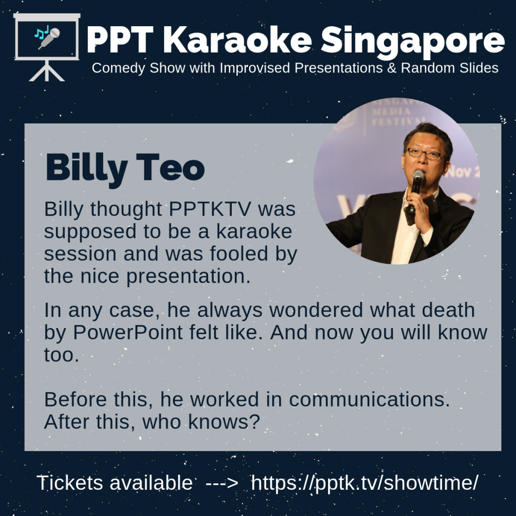 Billy Teo PowerPoint Karaoke Singapore